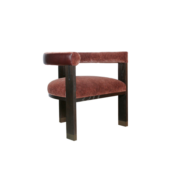 The George Occasional Chair by Hable for Hickory Chair in merlot mohair