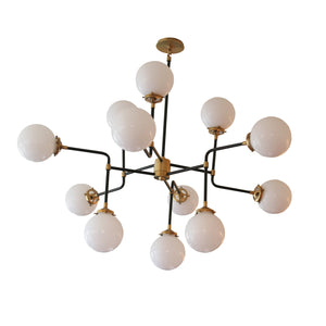 Bistro Medium Chandelier in Hand-Rubbed Antique Brass
