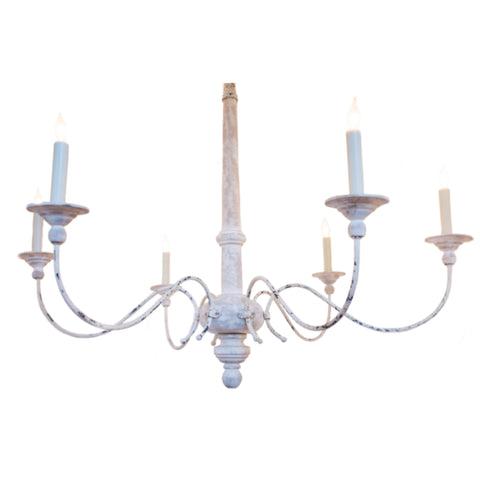 Country Small Chandelier by Visual Comfort & Co. in Belgian White