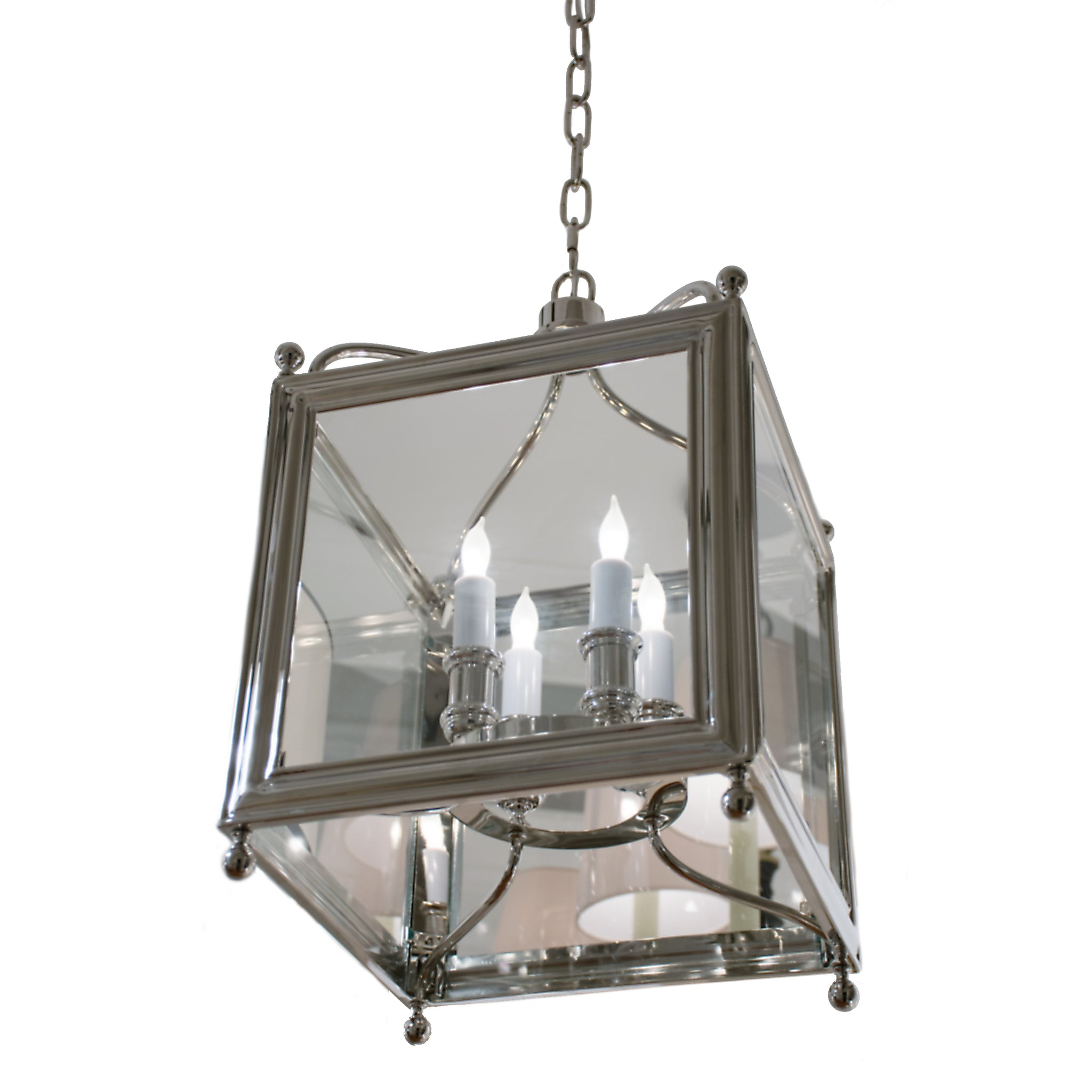 Greggory Small Lantern in Polished Nickel