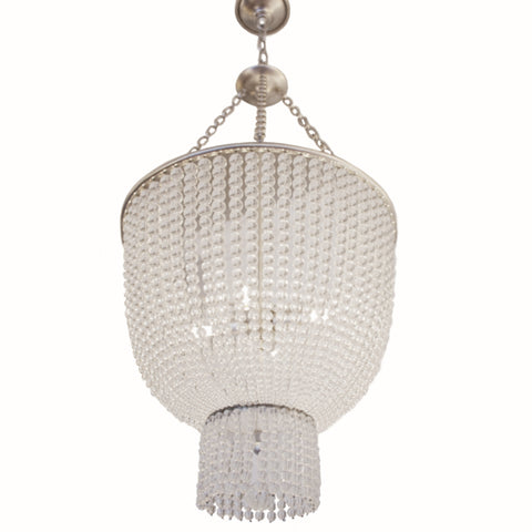 Jacqueline Chandelier in burnished silver leaf