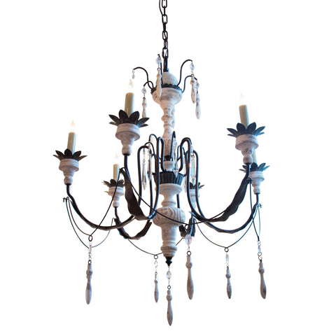 Percival Small Chandelier in Rusted Iron