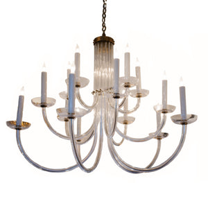 Wharton Chandelier in Hand-Rubbed Antique Brass