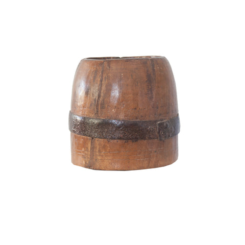 Wooden Indian Vessel in light brown