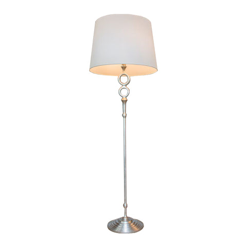 Bristol Floor Lamp by AERIN for Visual Comfort & Co. in Burnished Silver Leaf