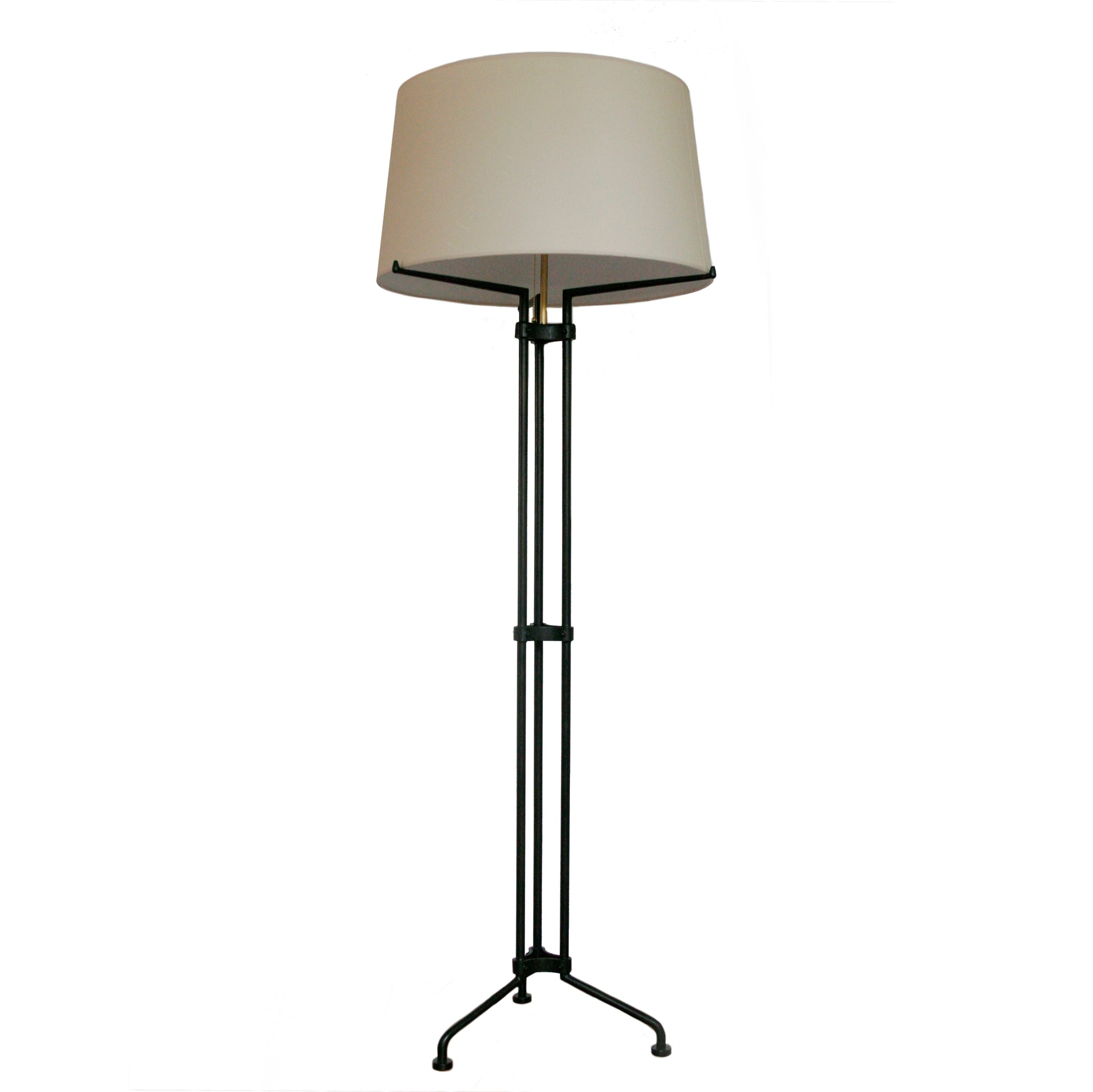 Terrazo Tri-Leg Floor Lamp in Aged Iron