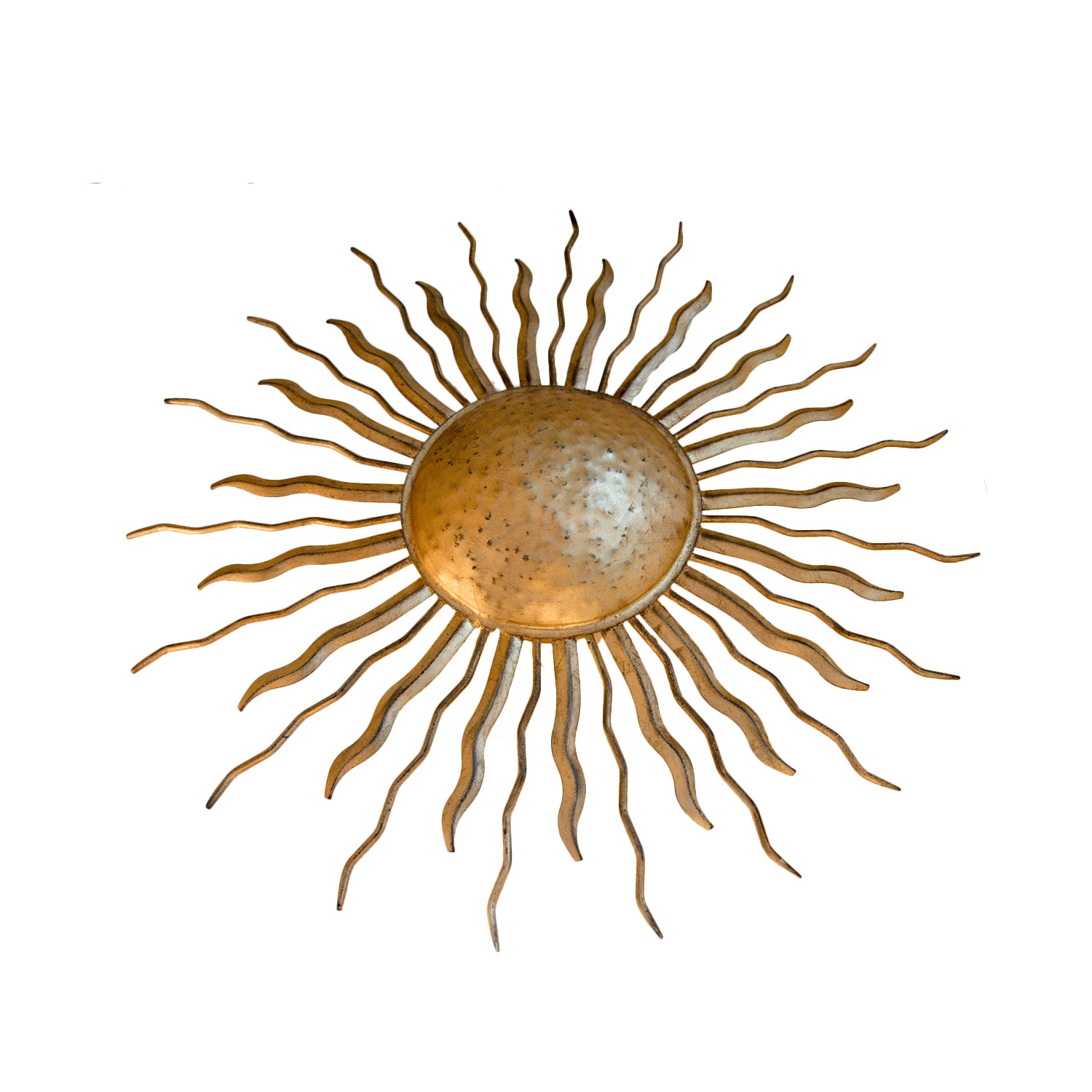 Ré Flush Mount by Suzanne Kasler for Visual Comfort & Co. in Gilded Iron with Wax.