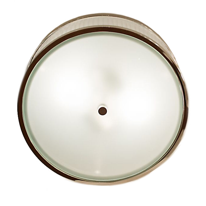 Randolph Large Round Flush Mount by Alexa Hampton for Visual Comfort & Co. in Polished Nickel