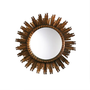 Large Starburst Mirror in Gild