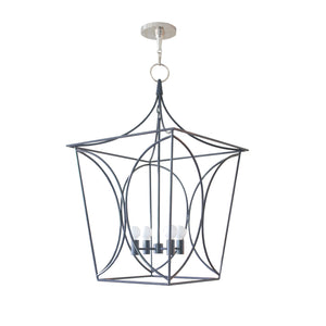 cavanagh lantern in navy blue