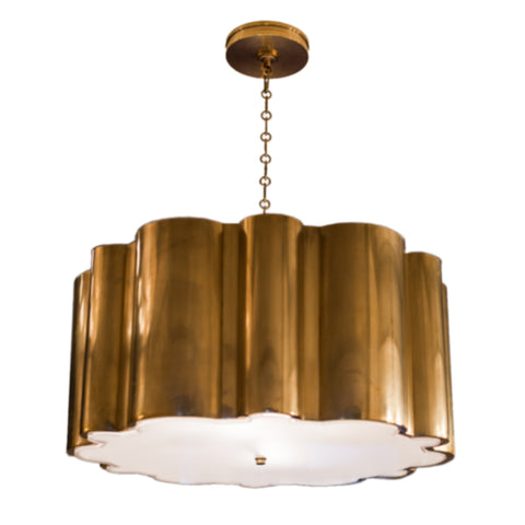 Markos hanging shade in natural brass