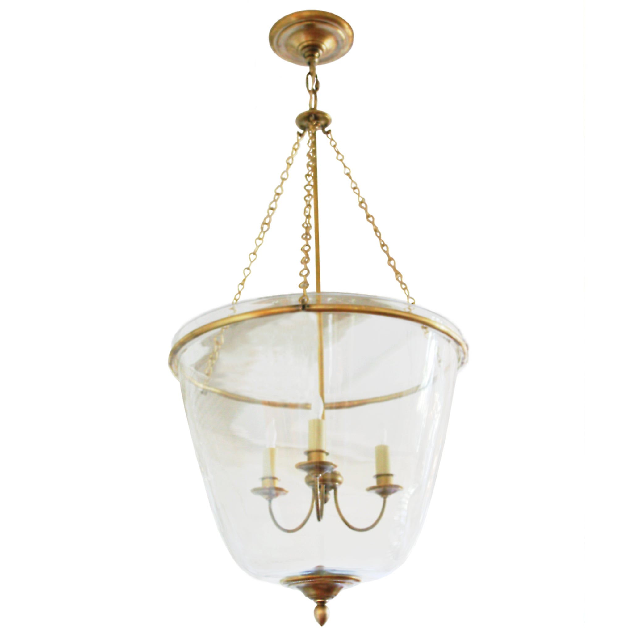 Pondview medium jar lantern in hand rubbed antique brass