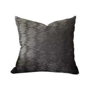 Hawthorne House 22 x 22 pillow in Hickory Chair charcoal cut velvet