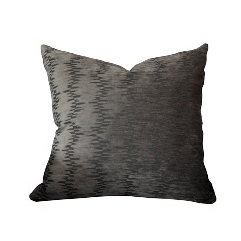 Hawthorne House Bespoke 22 x 22 Charcoal Cut Velvet Pillow