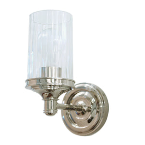 Ava Single Sconce in polished nickel