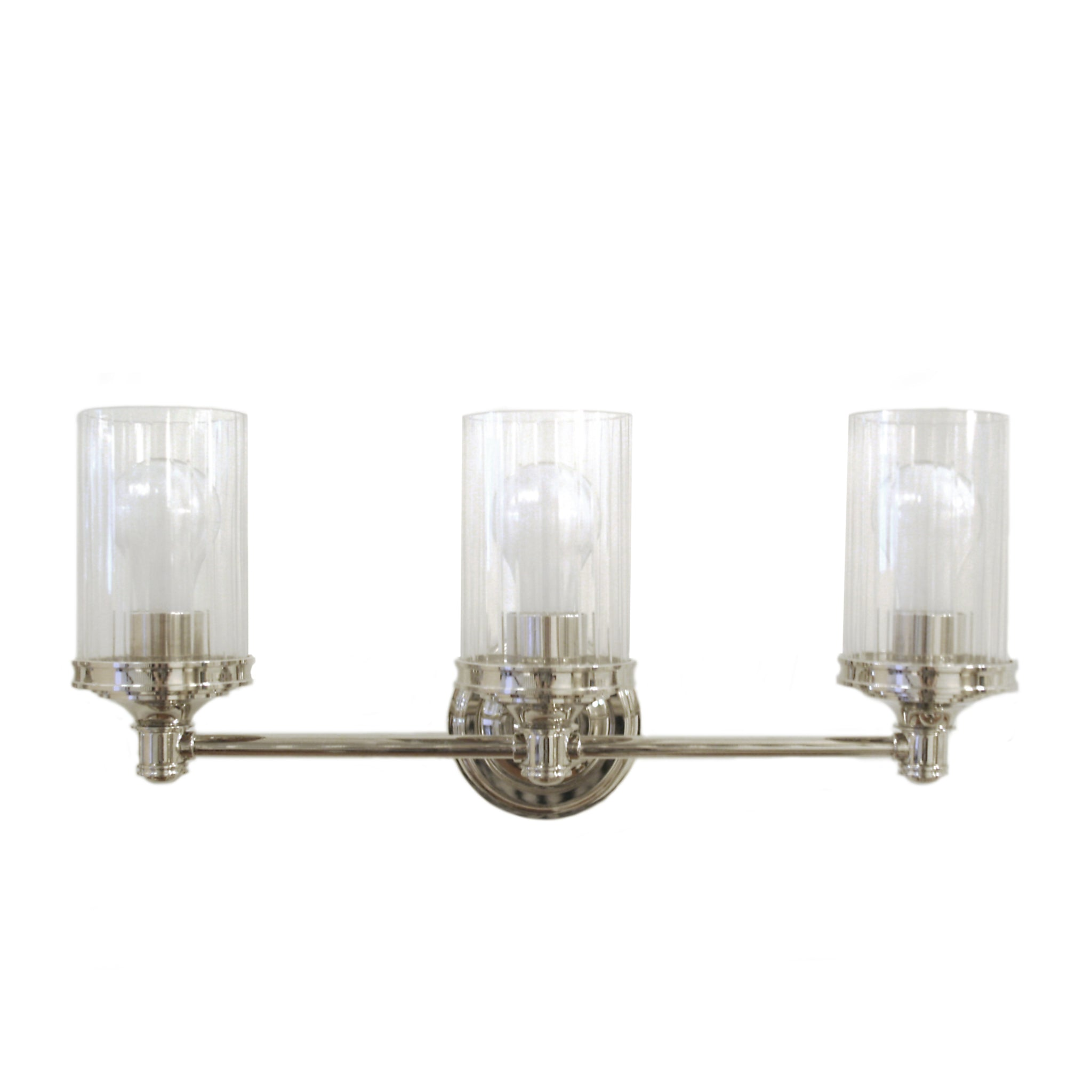 Ava Triple Sconce in polished nickel