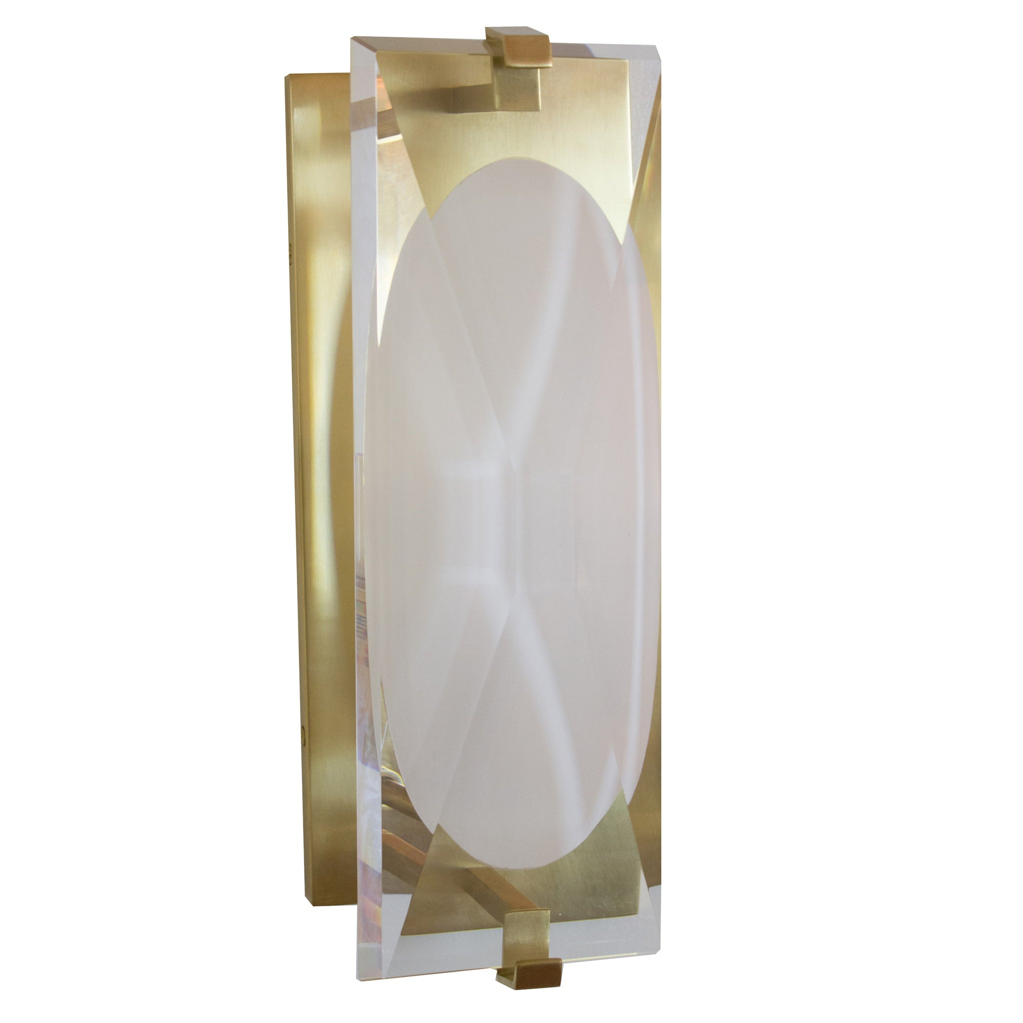Castle Peak Small Bath Sconce in Soft Brass