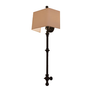 Cawdor Stanchion Wall Light in Aged Iron