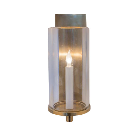 Deauville Single Sconce in Hand-Rubbed Antique Brass