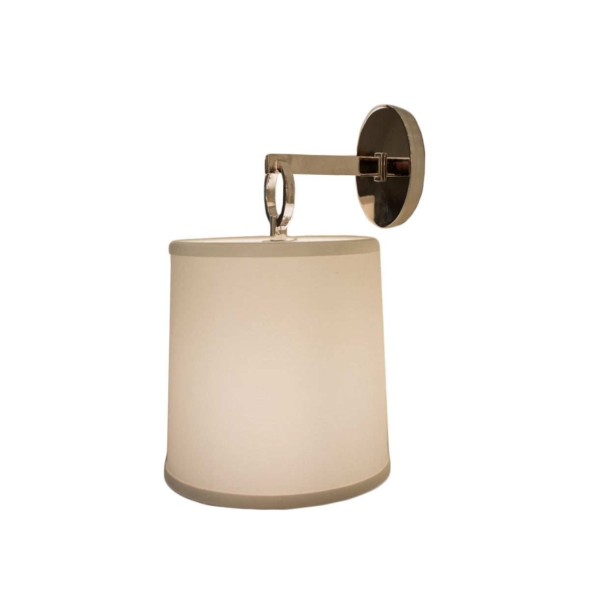 French Cuff Sconce in Polished Nickel