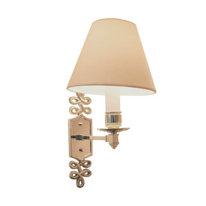 Ginger Single Arm Sconce in Polished Nickel