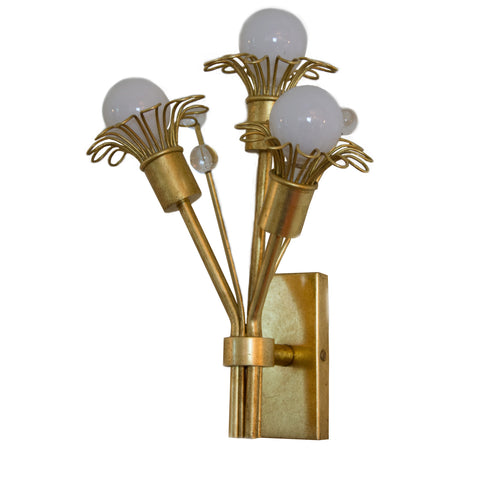 Keaton Mini Bouquet Sconce in Gold