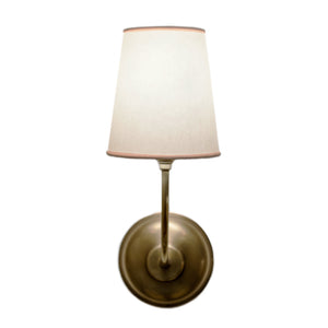 Vendome Single Sconce n Hand-Rubbed Antique Brass with Natural Paper Shade