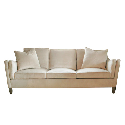 The Lake sofa by Hable in gold velvet