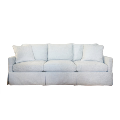 antonio thee-cushion sofa in aqua.