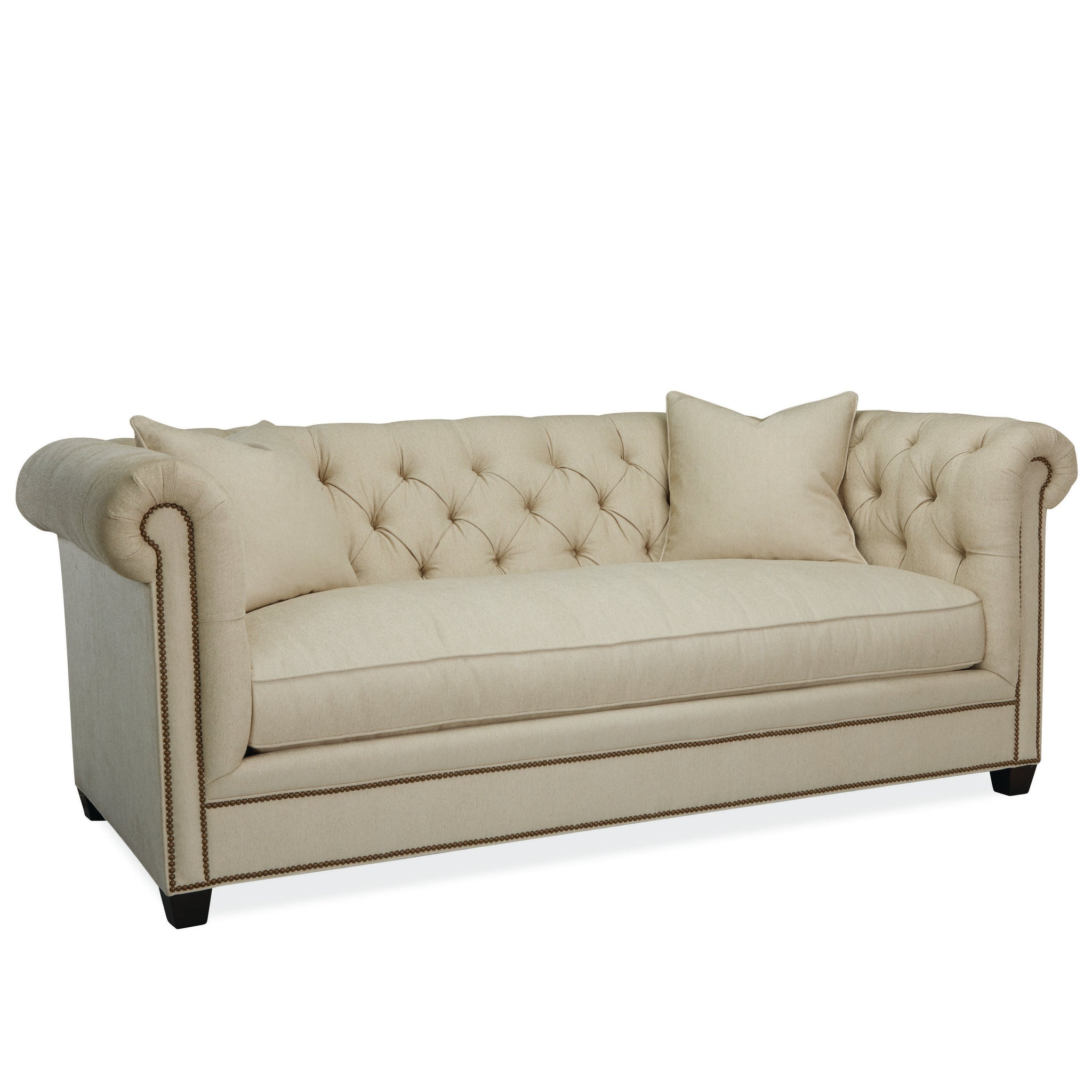 The Oscar tufted sofa in green
