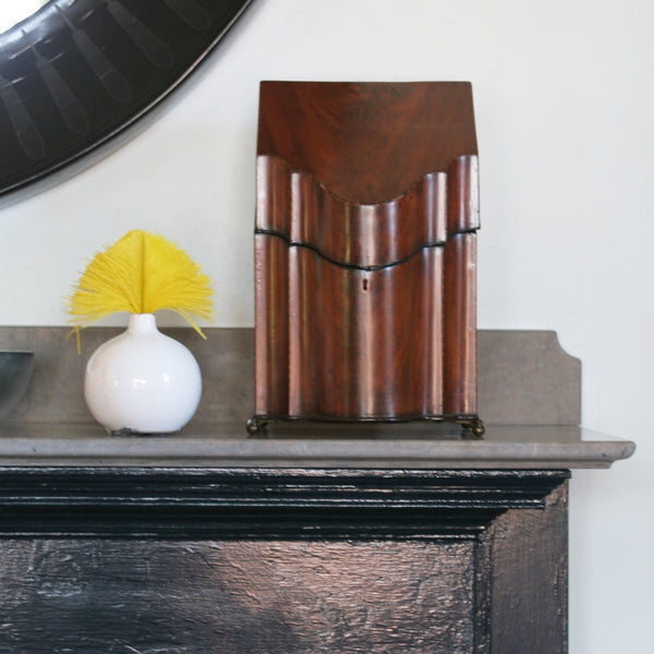 Small White vase on Mantle
