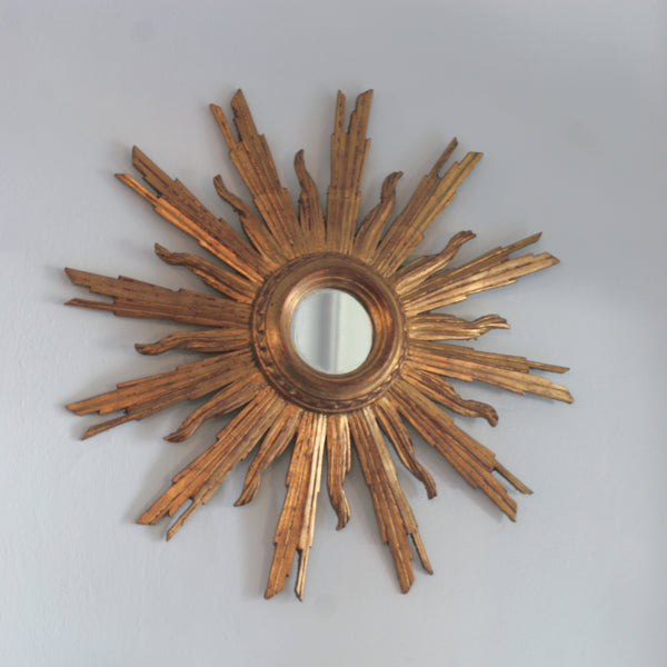 Vignette Small Starburst mirror in gold