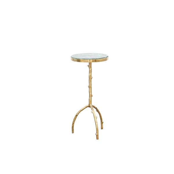 Birch Brass Chairside Table
