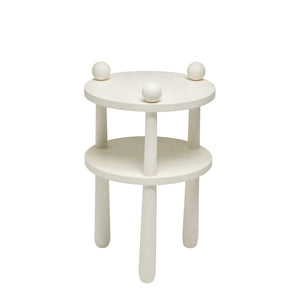 Chade side table in white