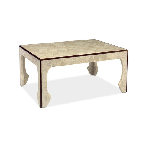 The Daria cocktail table in walnut trim