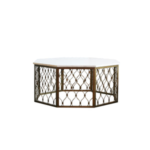 The Gayla Cocktail Table in white marble