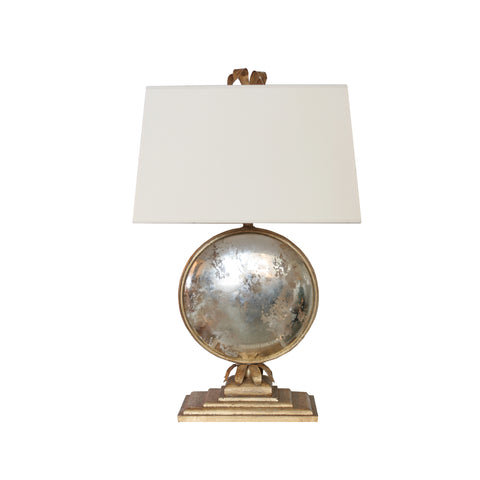 Gramercy Large Console Lamp in gilded iron with paper shade