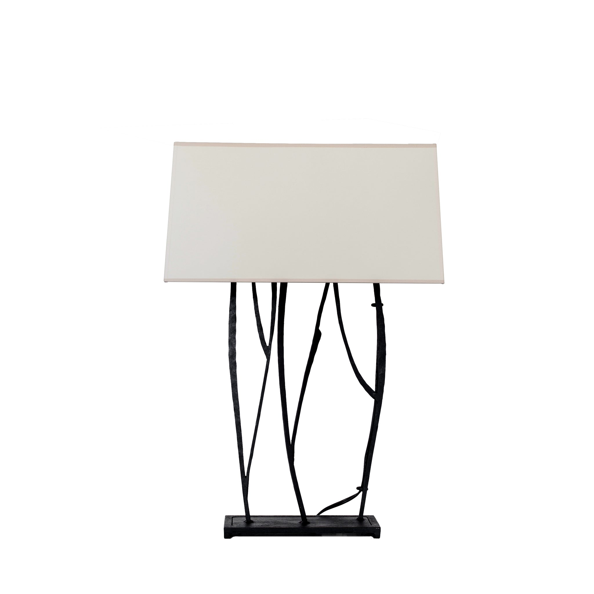 Aspen Table Lamp in Black Rust with Natural Paper Shade