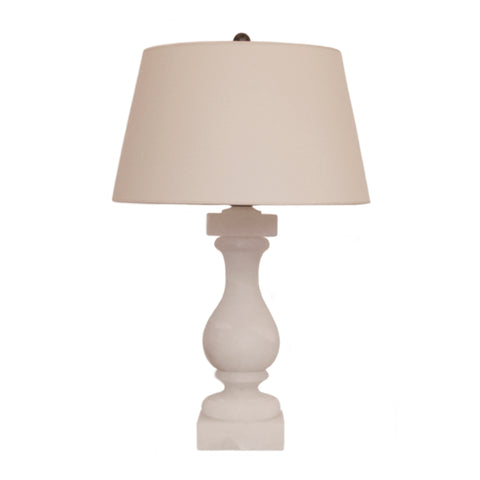 Balustrade Table Lamp in Alabaster by Visual Comfort & Co