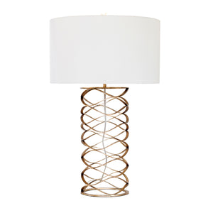 Bracelet Table Lamp in Gilded Iron