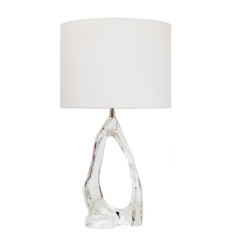 Cannes Table Lamp by AERIN for Visual Comfort & Co in clear glass