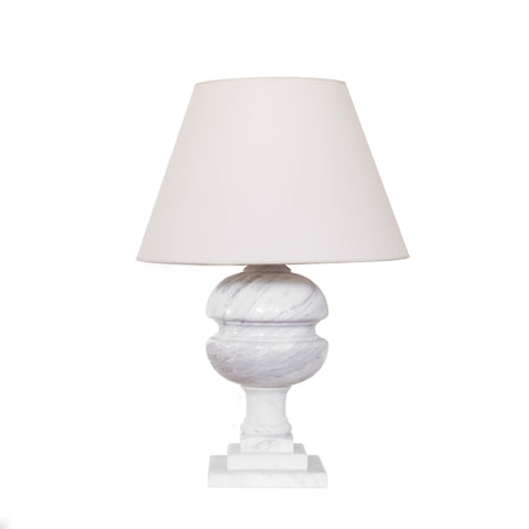 Desmond Table Lamp in White Marble