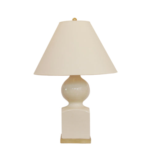 uping Gourd Vase Table Lamp in Iced Coconut with Natural Percale Shade