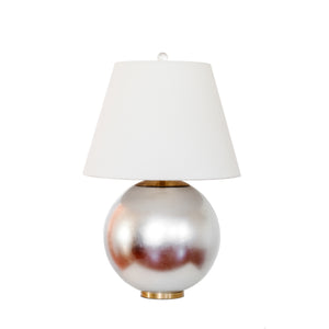 Morton Table Lamp by AERIn for Visual Comfort & Co. in Burnished Silver Leaf
