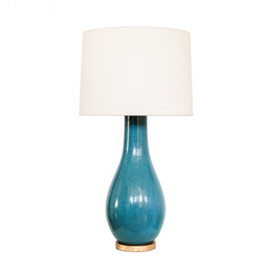 Orson Balustrade Form Table Lamp in Oslo Blue. Also available in Denim Porcelain