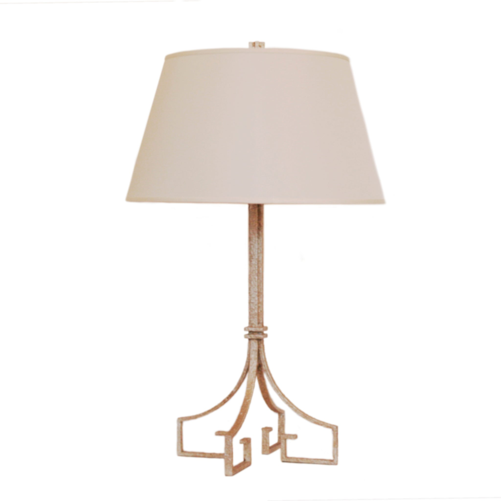 Rhodes Table Lamp by Niermann Weeks for Visual Comfort & Co. in Venetian Silver with Silk Shade