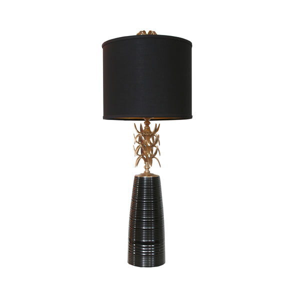 Ananas Table Lamp in black with black shade