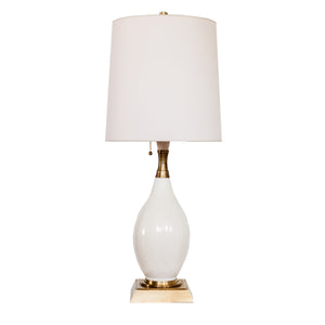 Tamaso Small Table Lamp by Thomas O'Brien for Visual Comfort & Co. in Tea Stain Porcelain with Natural paper shade