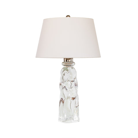 Westport Table Lamp in Crystal by Visual Comfort & Co. with natural paper shade