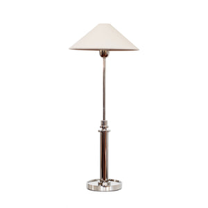 Hargett Buffet Lamp by J. Randall Powers for Visual Comfort & Co. in Polished Nickel with Natural Paper Shade